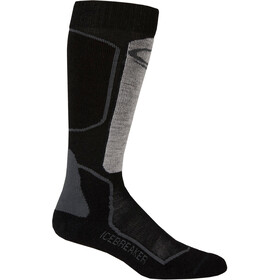 Icebreaker Ski+ Light Over The Calf Socks Herrer, oil/black/silver